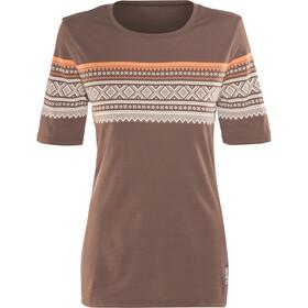 Aclima DesignWool Marius Merino T-Shirt Damen fondue fudge